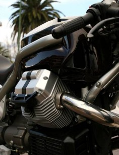 Moto guzzi griso cafe racer (firestarter) powerplant