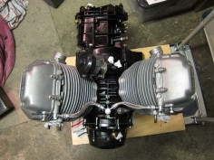Moto Guzzi Le Mans 850 engine rebuilt, ready to go into it's Tonti frame.