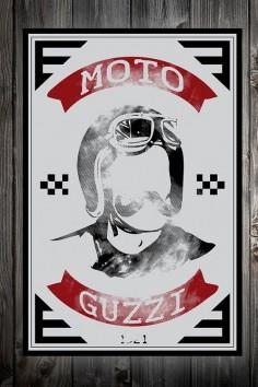 Moto Guzzi Motorcycle Print // Matte Giclee Print // Custom frame // No glass // Vintage motorcycle print