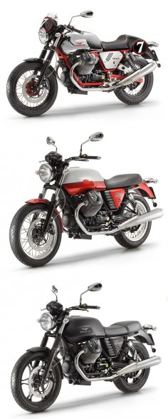 Moto Guzzi reveals the all-new V7 range: the Racer, Special and Stone. From $8,390. What's your favorite?
