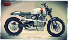 "Moto Guzzi V1200 Cafe Racer ""Fiera"" Design by Old school garage #illustration #design #motorcycles #caferacer 
