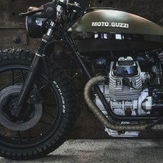 Moto Guzzi V50 army cafe racer by @Kristian Bech @relicmotorcycles