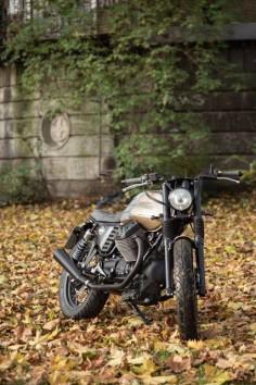 Moto Guzzi V7 Brat Style by Karoo Tailored Motorcycles #motorcycles #bratstyle #motos |