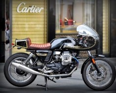 Moto Guzzi V7 Cafe Racer - Impossible Project Motors - RocketGarage