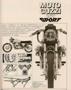 Moto Guzzi V7 Sport - such a beautiful bike, then and now. Always loved that double-sided drum front brake.