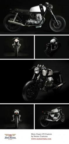 Moto Guzzi v75 Custom by Venier Customs  #motorcycle #custom #motoguzzi #italy #italian