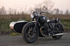 MOTO GUZZI V9 W/ SIDECAR ~ ANVIL MOTOCICLETTE ~ BIKEEXIF