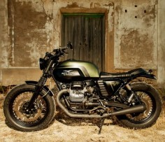 "Moto-Mucci: DAILY INSPIRATION: ""Mr. Green"" Moto-Guzzi V7 by Macco Motors"