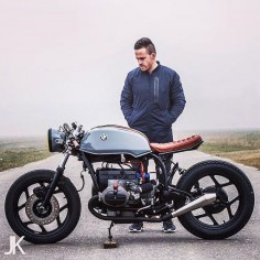 Moto-Poetry: the latest BMW #caferacer by @Arjan van den Boomen shot by @Jackson Kunis.