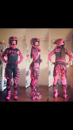 Motocross rose girl