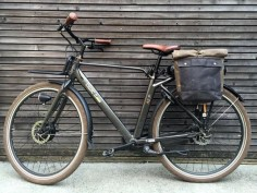 Motorbike bag / bicycle bag in waxed canvas  /  by treesizeverse