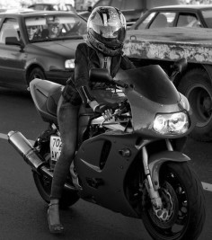 ... motorcycle  she's riding in heels! - see more cool motorcycle goodness at