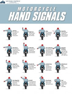 Motorcycle Hand Signals Chart #Infographics —