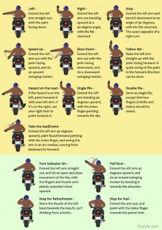 Must-know Universal Motorcycle Hand Signals