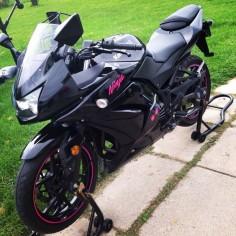 My black and pink 2009 Kawasaki ninja 250R