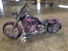 "My ""Pink Angel"" breast cancer Harley Davidson motorcycle. Pink motorcycle"