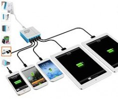 Need to get your life organized?? SOLUTION- Zap 5-Port USB Smart Rapid Charger. Charges 5 devices in a ZAP!