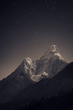 Nepal, Everest region from Tengboche (3,860 m) to Ama Dablam (6,856 m)