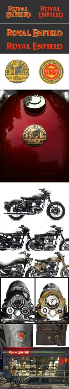 New Logo and Identity for Royal Enfield by Codesign.