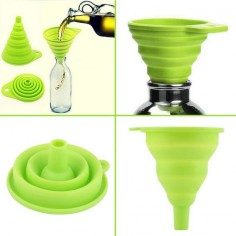New Mini Silicone Gel Foldable Collapsible Funnel