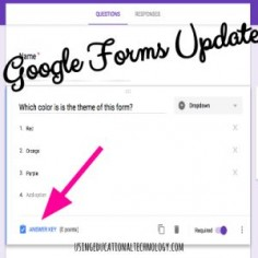 "NEW ""Quiz"" Feature Google Forms Addition #edchat #techyteacher #gafechat"