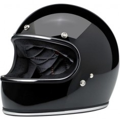 "New vintage full face ""Gringo"" glossy-black from BILTWELL with chrome trim. Shop now at"