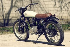 "Nicknamed ""Petite Delí"", it's based on a 1999 Honda CG125 by Cafe Racer Dreams"