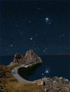 Night sky of Olkhon Island, Lake Baikal, Russia, I really wish you could still see the stars in the city.