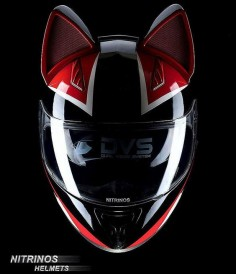 "NITRINOS > ""Red Cat"" Helmet Themed Cat"