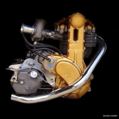 NO 11: CLASSIC AJS 7R MOTORCYCLE ENGINE by Gordon Calder, via Flickr