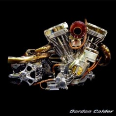 (No. 115 ~ HARLEY DAVIDSON S&S EVOLUTION CHOPPER ENGINE, by Gordon Calder, via Flickr, 3,000,000 Views!)