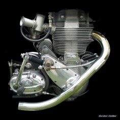 No 47: CLASSIC BSA GOLD STAR MOTORCYCLE ENGINE (2) by Gordon Calder