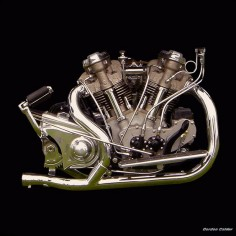 NO 5: VINTAGE 1938 CROCKER MOTORCYCLE ENGINE by Gordon Calder, via Flickr