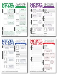 Novel Writing Brainstorming Templates  by rhinoandasmallbird