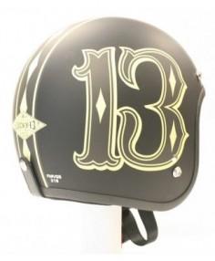 Number 13 Motorcycle Helmet