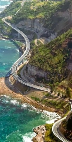Ocean Road - south of Sydney, near Wollongong, Australia