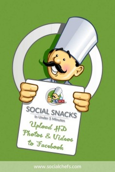 On this episode of Social Snacks, learn how to upload HD photos and videos to Facebook. By default, Facebook uploads standard resolution photos and videos.