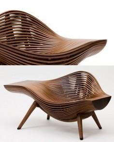 organic wooden chair