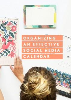 Organizing an effective social media calendar   In Honor of Design