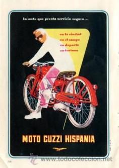 Página Publicidad Original *Moto GUZZI HISPANIA* -- Vintage-- Año 1955