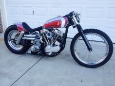 Panhead swingarm custom with molded seat/rear cowl and japanese gas tank