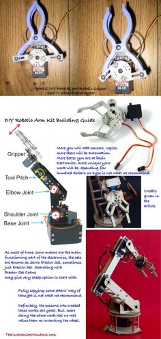 People often searches with Open Source DIY Robotic Arm Kit – factually, this is Arduino like odd way of thought. If you can make a scissor to cut a paper with servo motors following a line – that is a robot.