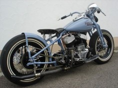 Photo of 1942 WLA Flathead Harley Bobber oldschool motorcycle by Andy.