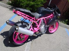 (pink!) ducati