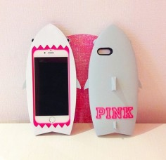 PINK shark iPhone 6 case
