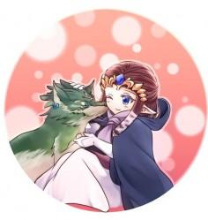 「ウルフリンクとローブ姫」/「海棠深月」のイラスト [pixiv]