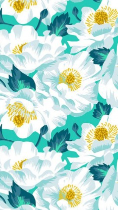 pretty floral surface pattern