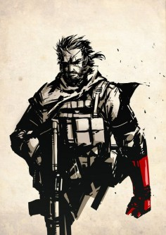 "Punished Snake // artwork by Hary Istiyoso (2013) Big Boss as he will appear in the soon to be released ""Metal Gear Solid V: The"