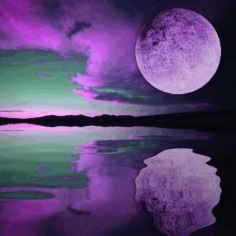Purple Sky Moon