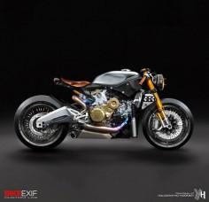 Racing Cafè: Cafè Racer Concepts - Ducati 1199 Panigale Cafè Racer by Holographic Hammer